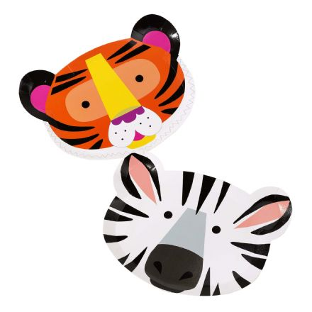 Animal Birthday Party Face Plates